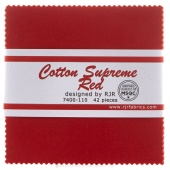 Cotton Supreme Solids Red Charm Pack