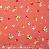 Hello Gorgeous - Gorgeous Flower Toss Pink Yardage