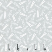 My Happy Place - Clothes Pins Gray Yardage