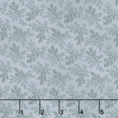 "Charlotte C. 1860 - Branches Dusty Blue Digitally Printed 108"" Wide Backing"