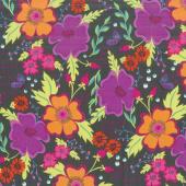 Gypsy - Gypsy Floral Charcoal Yardage