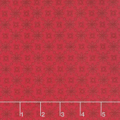 Home Again - Daisy Red Yardage