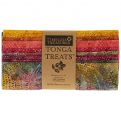 "Tonga Treats Batiks - Colorwheel Forest 10"" Squares"