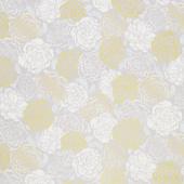 Silverstone - Flowers Taupe Metallic Yardage