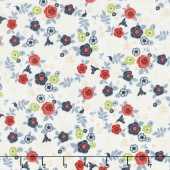 Hedge Rose - Garden Cream Yardage