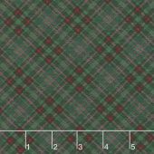 Christmas Cabin - Bias Plaid Green Yardage
