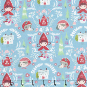 Little Red in the Woods - Damask Teal Yardage