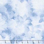 Pearl Frost - Frost Leaves Silver Gray Pearlescent Yardage