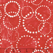 Artisan Batiks - Color Source 7 Dotted Circles Red Yardage