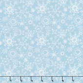 A Magical Christmas - Snowflakes Allover Blue White Yardage