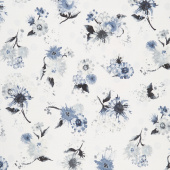 Natural Blooms - Flowers Dove Yardage