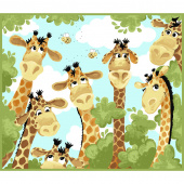 Zoe the Giraffe - Giraffe Play Mat Orange Panel