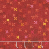 X's and O's - Big Kisses Warm Red Multi Yardage