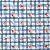 Road Trip - Tablecloth Blue Yardage