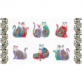 Cat-i-tude 2 - PurrFect Together Picture White Multi Metallic Panel