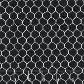 French Country - Chicken Coop Wire Black Yardage
