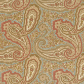 Collection for a Cause - Heritage 10th Anniversary Paisley Aqua Yardage