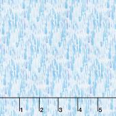 Rain or Shine - Raindrops Blue Yardage