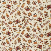 Buttermilk Autumn - Novelty Toss Cream Yardage