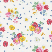 Afternoon Picnic - Floral Cream Yardage