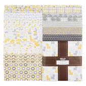 Cozy Cotton Flannels - Yellow Ten Squares