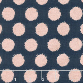 Blush - Dot Blue Sparkle Yardage