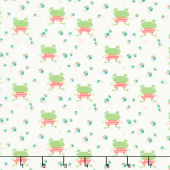 Ready Set Splash - Frogs Cream Yardage
