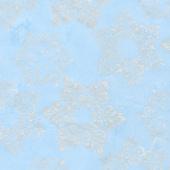 Artisan Batiks - Snowflakes 2 Medallion Snowflakes Frost Metallic Yardage