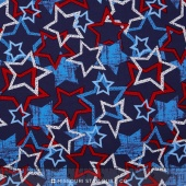 Patriotic Pride - Stars Navy Yardage