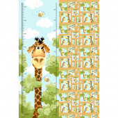 Zoe the Giraffe - Giraffe Growth Chart Aqua Panel