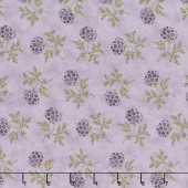 Clover Meadow - Puff Ball Floral Lilac Yardage