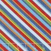 School Zone - Diagonal Stripe Multi Color Yardage