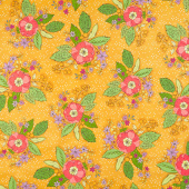 Bubbie's Buttons and Blooms - Grandma Sharon's Bouquet Curry Yardage