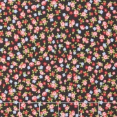 Guernsey - Isola Small Floral Charcoal Yardage