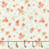 Cassandra - Tossed Flowers Apricot Yardage