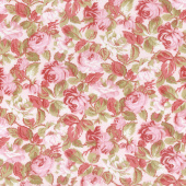 Rhapsody in Reds - Tonal Floral Light Pink Yardage