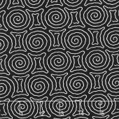 Kinfolk - Spiral Maze Black Yardage