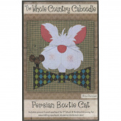Persian Bowtie Cat Precut Fused Appliqué Pack