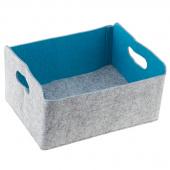 Felt Foldable Storage Bin - Turquoise