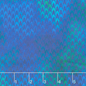Tapestry - Flames Blue Yardage