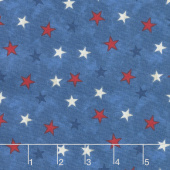Lake Life - Stars Blue Yardage
