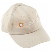 Twill Cap - Khaki with Multi Colored Missouri Star
