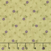 Mill Creek Garden - Flowers Green Yardage