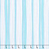 Confetti - Wonky Stripe Turquoise Yardage