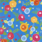Simply Happy - Main Blue Yardage