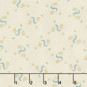 Sage & Sea Glass - Serpentine Swirls Cream Yardage