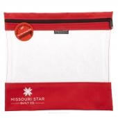 "Missouri Star's SEEYOURSTUFF Bag 12"" x 13"" - Red"