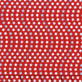 Patriotic Picnic - Wave Red Yardage