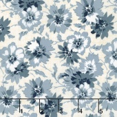 Faded Memories - Faded Petals Blue Yardage