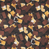 Chocolicious - 14 Karat Chocolate Black Digitally Printed Yardage